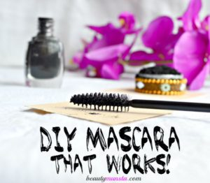 Homemade DIY Mascara with Activated Charcoal That Works