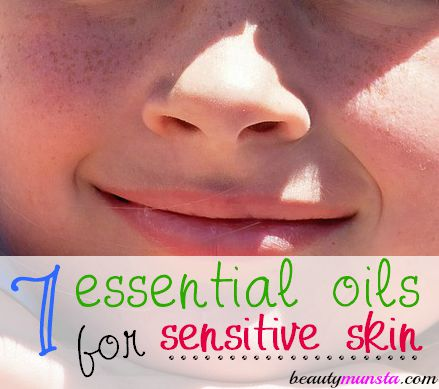 Soothe and calm your sensitive skin with essential oils!