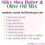 Soft & Silky Shea Butter and Olive Oil Mix for Skin & Hair