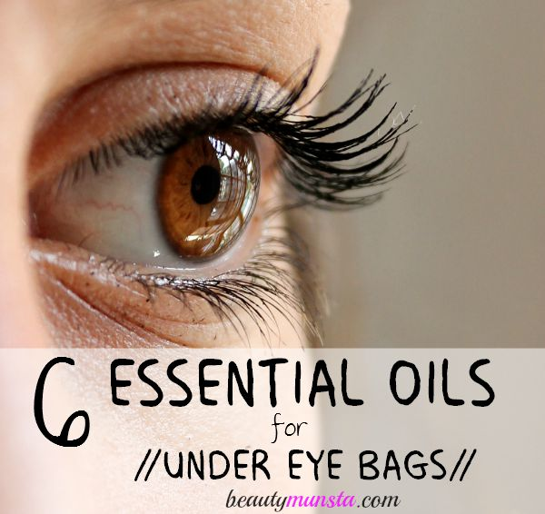 Essential oils for under eye bags! Get rid of under eye bags with essential oils! Recipes included!