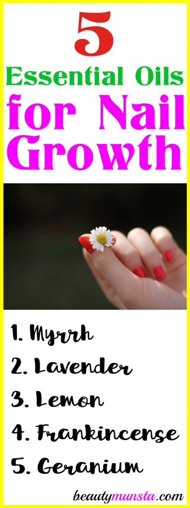 Check out the 5 essential oils for nail growth I've listed down below plus some awesome homemade recipes that'll not only promote faster growth but also strengthen your nails and prevent breakage!