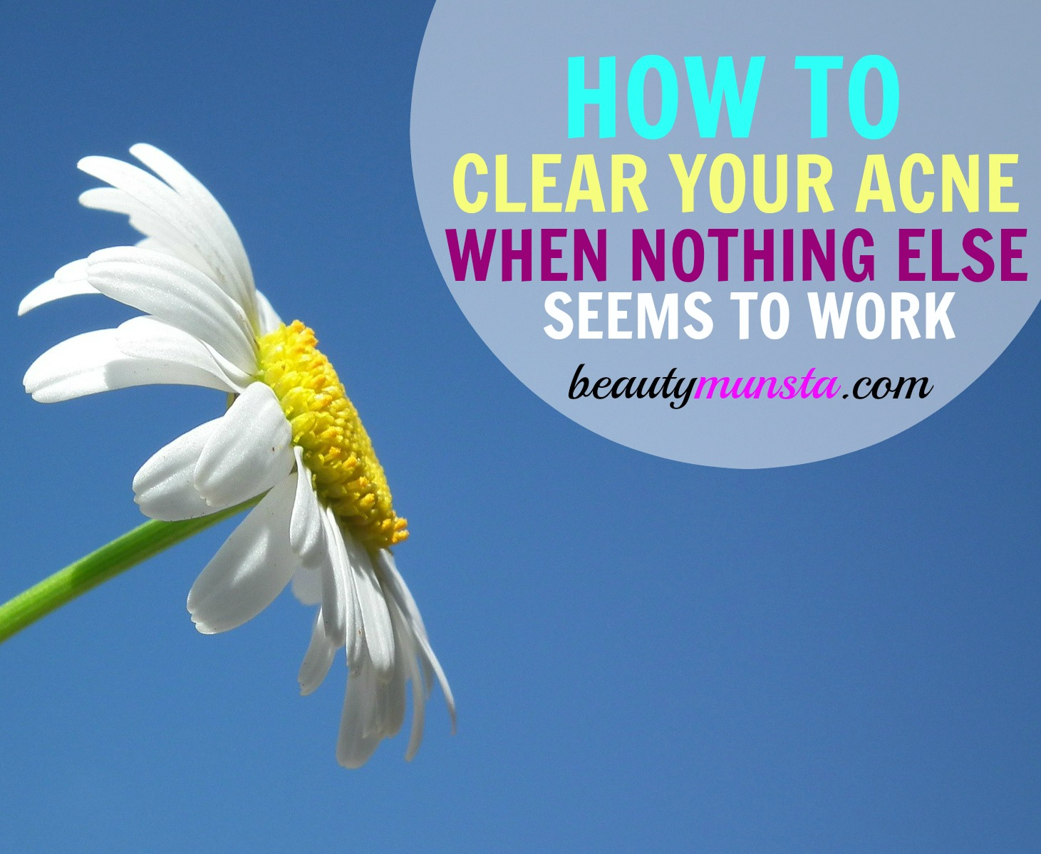 What is the real cause of your acne? Can I heal my acne with the power of my mind? Find out in the post below!