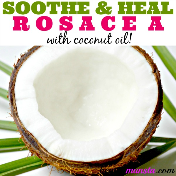 Extracted from the dried meat of the coconut fruit, coconut oil can be used to naturally heal rosacea!