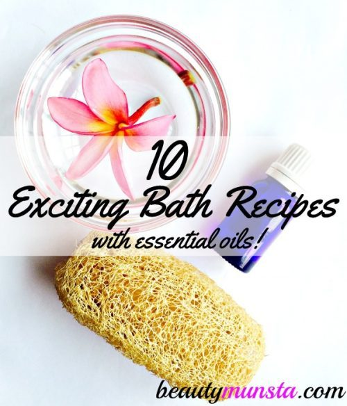 From healing lavender bath bags to citrusy bubble bath, learn how to make your own natural bath products with these 10 essential oil bath recipes!