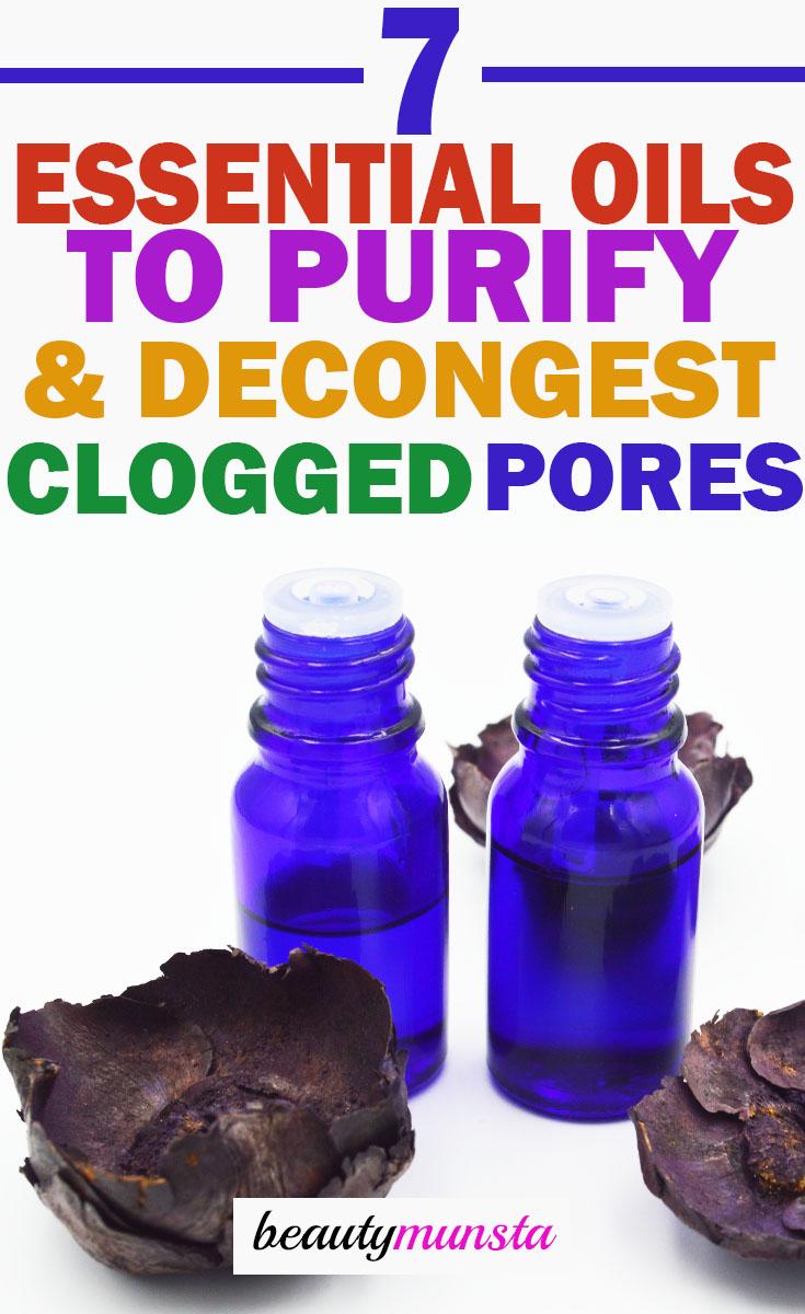 essential oils for clogged pores purification
