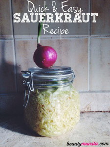 Easy Homemade Sauerkraut In a Jar | My Quick & Easy Recipe!
