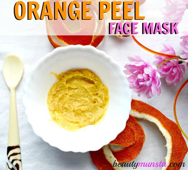 Exfoliating and skin brightening orange peel face scrub!