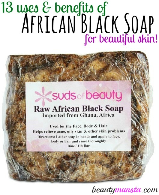 An ancient soap recipe that can be used for even the most sensitive skin types! FInd out 13 uses & benefits of African black soap for skin and why you should get it right now!