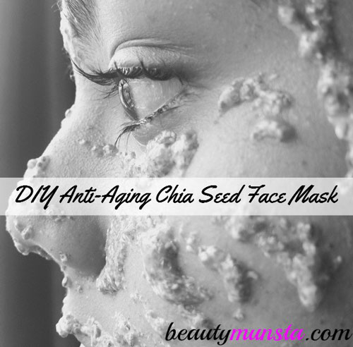 Put on a DIY chia seed face mask for youthful skin!