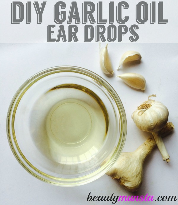 Learn how to make garlic oil ear drops with olive oil or coconut oil as a natural remedy for ear aches/infections!