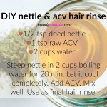 DIY Nettle Hair Rinse to Remove Build Up