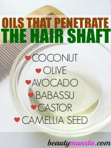 7 Natural Oils that Penetrate the Hair Shaft