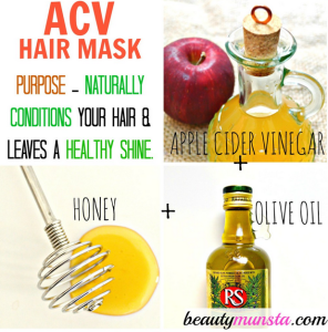 Apple Cider Vinegar Hair Mask for Shiny & Silky Locks