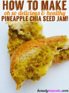 Delicious Pineapple Chia Seed Jam Recipe   Only 3 Ingredients!
