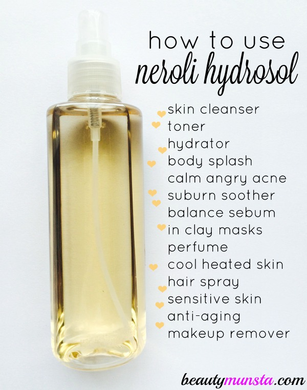 Here are my favorite ways on how to use neroli hydrosol for skin, hair & beauty!