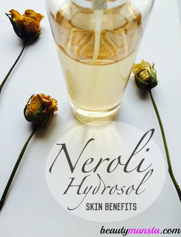 Neroli hydrosol, also known as orange blossom water is amazing for skin! Read 11 neroli hydrosol skin benefits below!