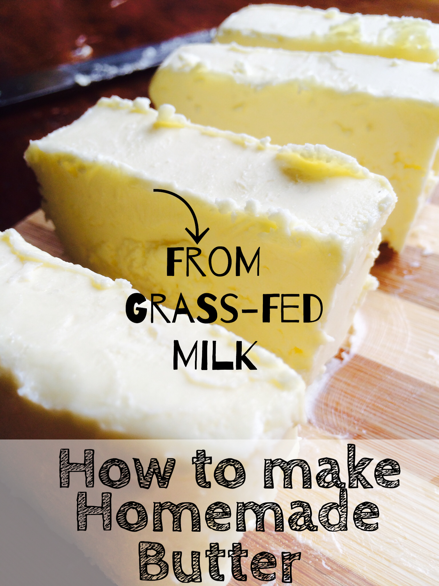 How to make homemade butter using grass-fed milk! It's so healthy and oh-so-delicious!