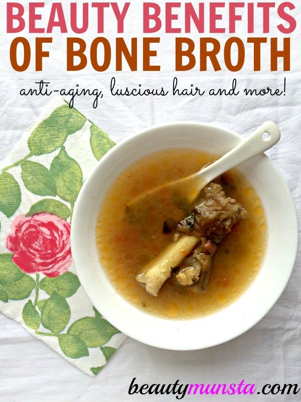 Bone broth - A superfood to youthful skin, lustrous hair, strong nails and radiant beauty! Find out 11 beauty benefits of bone broth here!