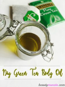 DIY Green Tea and Coconut Oil Moisturizer | My Body Oil Recipe