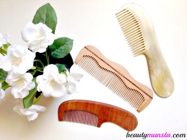 Instead of plastic, go for cow/sheep/buffalo horn combs and wooden ones as these are much more gentle on the scalp!