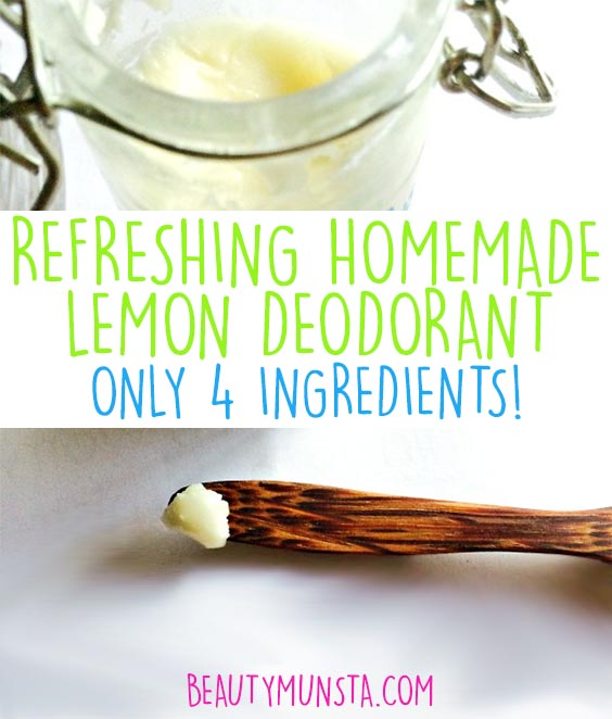 homemade diy deodorant recipe without beeswax but doesn't melt!