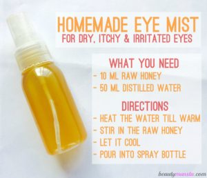 Homemade Eye Spray for Itchy & Irritated Eyes