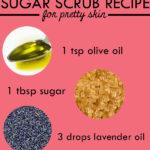 DIY Sugar Face Scrub for Instant Radiant Skin