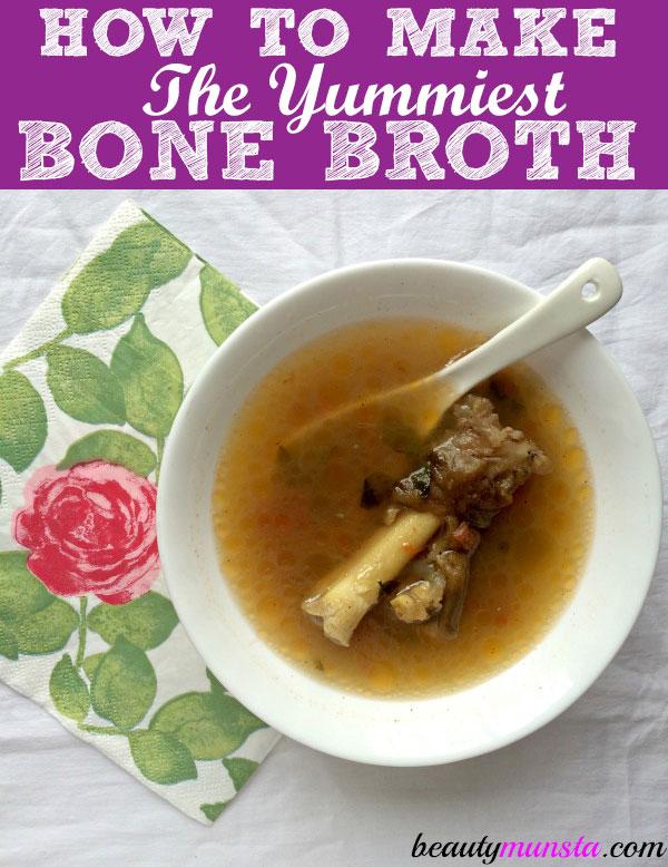 bone broth in a pressure cooker