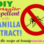 DIY Vanilla Extract Mosquito Repellent