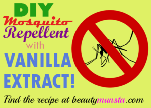 DIY Vanilla Extract Mosquito Repellent