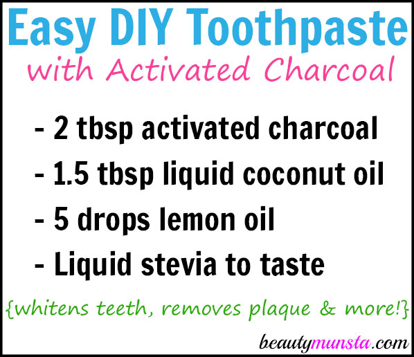 Take your teeth into your own hands (or should I say mouth) and whiten them naturally using this DIY activated charcoal toothpaste recipe. It's easy, doesn't taste bad, and it works!