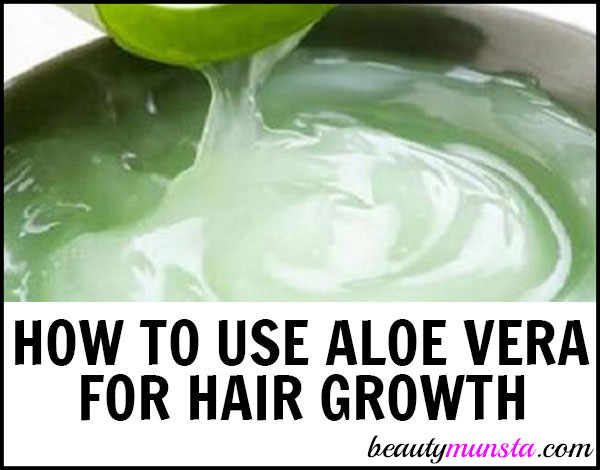 Learn how to use aloe vera gel for hair growth! It really does make your hair grow thicker and longer