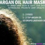 DIY Argan Oil and Egg Hair Mask