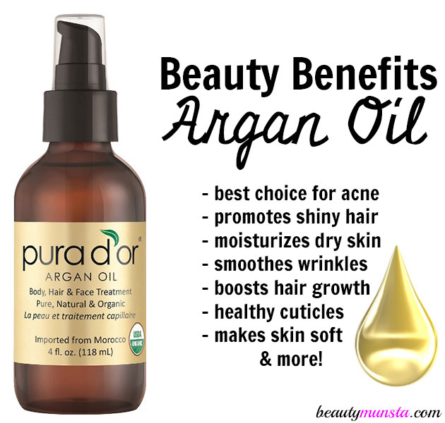 beauty benefits of argan oil for skin, hair and nails