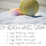 DIY Sea Salt Spray for Curly Hair