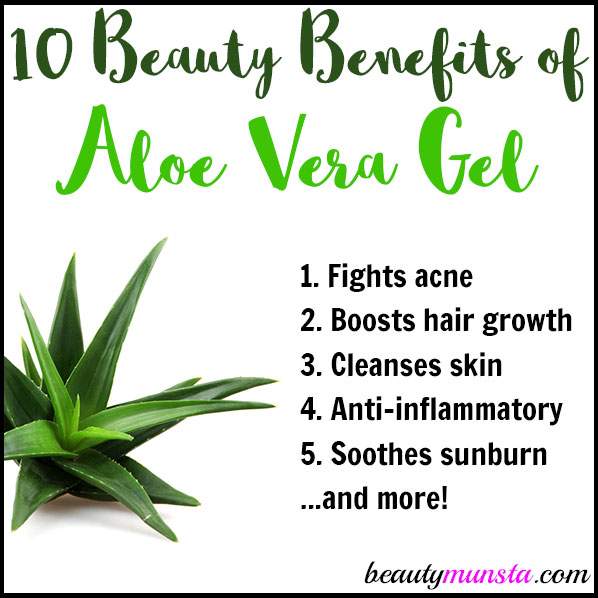 Here are 10 amazing beauty benefits of aloe veral gel for healthy skin and hair: