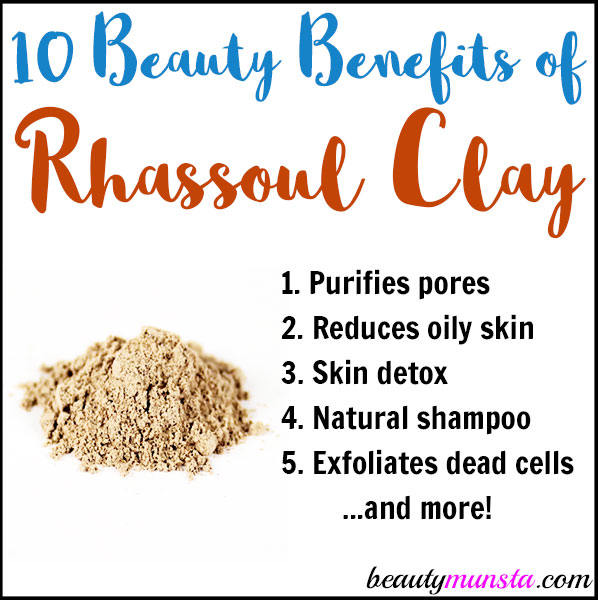 This amazing mineral-rich clay has lots of beauty benefits for skin so without further ado, let's get on with them!