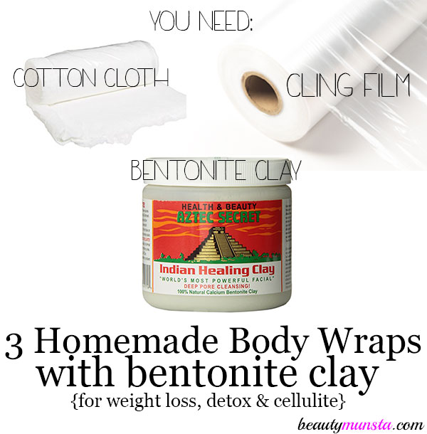 homemade body wraps with bentonite clay