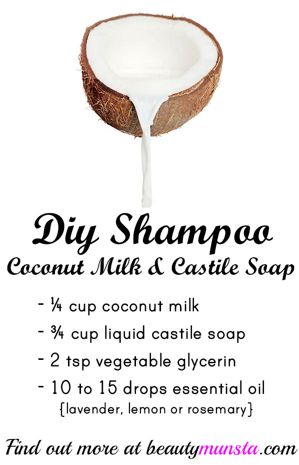 Diy Shampoo With Coconut Milk Amp Liquid Castile Soap