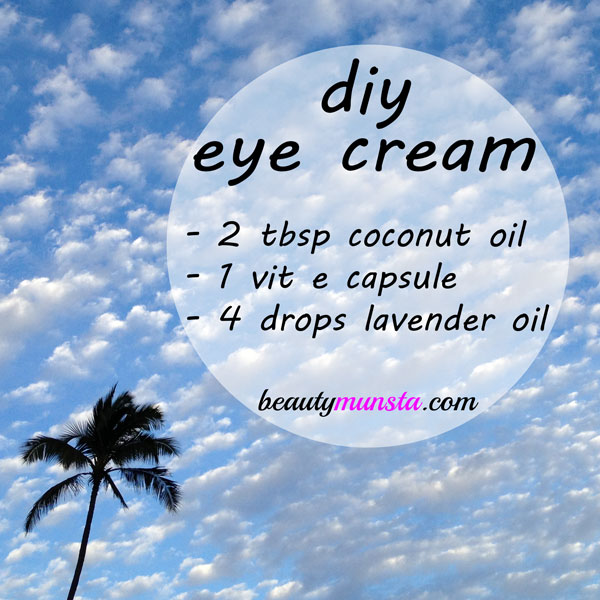 coconut oil and vitamin e eye cream