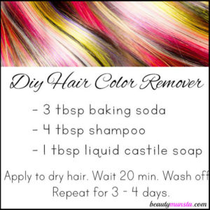 DIY Hair Color Remover with Baking Soda