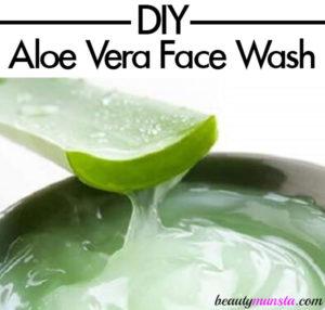 DIY Aloe Vera Cleanser / Face Wash Recipe | Natural, Foaming & Refreshing