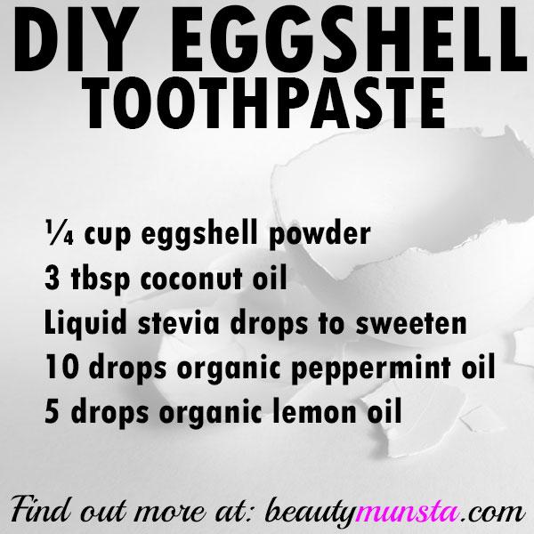 diy eggshell toothpaste