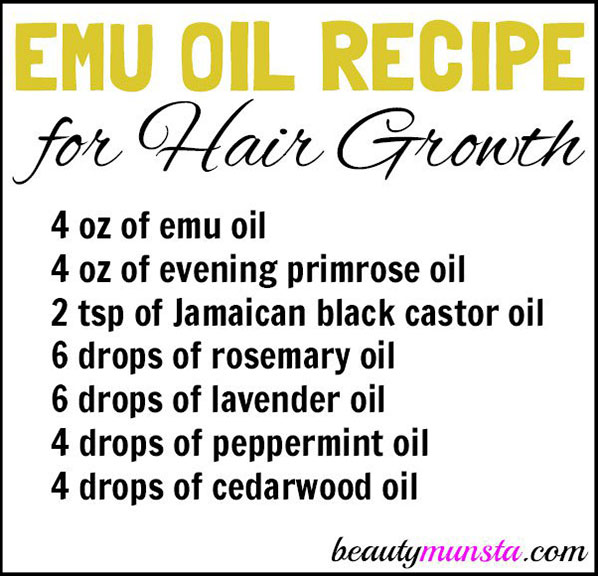 emu oil hair growth recipe