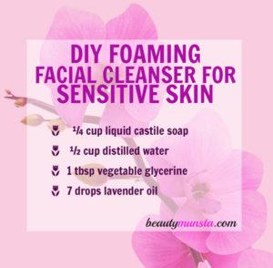DIY Facial Cleanser Recipe for Sensitive Skin – 2 Recipes