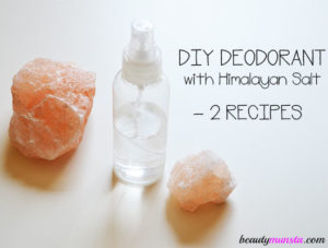 DIY Himalayan Salt Deodorant – Roll On & Spray Recipes