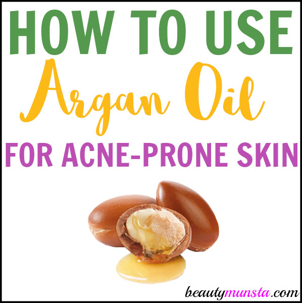 Learn how to use argan oil for acne prone skin!
