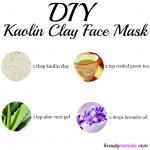 DIY Kaolin Clay Face Mask Recipe