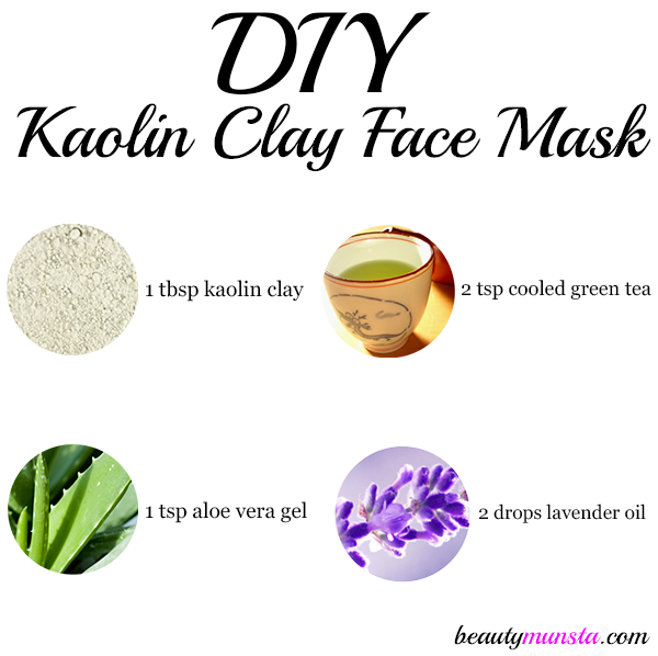 Diy Charcoal Face Mask For Acne Prone Skin: DIY Kaolin Clay Face Mask Recipe