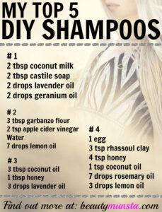 My Top 5 Favorite Natural Shampoo Recipes – DIY at Home!